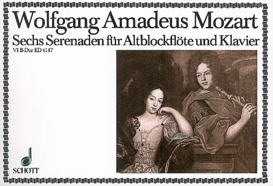 Seis 439b, da serenatas KV Anh. Anh. Anh. 229 Mozart, Wolfgang Amadeus Grabadora de agudos (vio 1e8a34